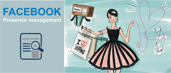 Facebook presence management for an online Clothing retailer